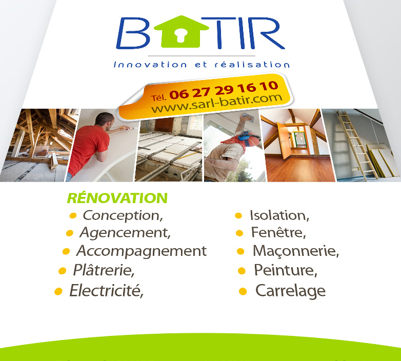 Flyer A6 – BATIR – CREATION DE FLYER