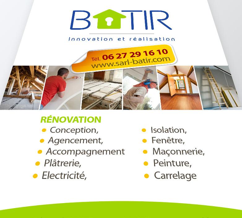 Création Flyer A6 – BATIR